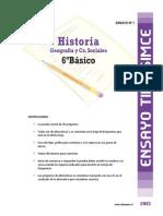 Ensayo1 Simce Historia 6basico 2013