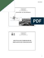 Engenharia de Transportes I - Aula 09 - Distância de Frenagem