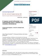 Revista de Nutrição - Food Social Space_ a Tool to Study Food Patterns
