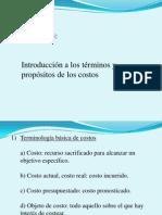 Capítulo 3 Introducción a Los Términos y Propósitos de Los Costos
