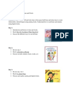 time and clocks 3day lesson plan