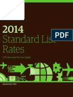 Standard List Rates