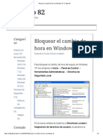 Bloquear El Cambio de Hora en Windows XP _ Codigo 82