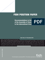 FIDH Recommendations to the 13th Assembly of States Parties to the Statute of the ICC