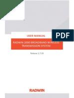Radwin 2000 User Manual