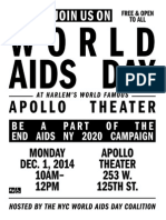 NYC World AIDS Day Coalition Program, 12-1-14, Harlem's World Famous Apollo