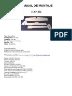 Avion en Depron Rc CAP232 Aeromodelismo Foam Radio Control