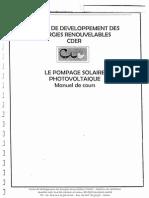 LE POMPAGE SOLAIRE PHOTOVOLTAIQUE MANUEL DE COURS.pdf