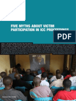 "FIDH Report ""Five Myths About Victim Participation in ICC Proceedings"""