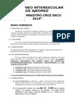 Bases i Er Torneo Interescolar de Ajedrez 2014_enviar