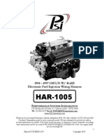 HAR-1005 LT1 Fuel Injection Wiring Harness Instructions