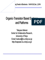 Organic-Transistor Based Systems and Platforms - Takayasu Sakurai