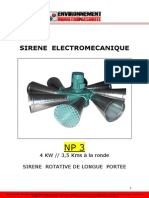 Np 3 Puissance 4 Kw Notice Technique Sirene Rotative 35 Kms de Couverture 1