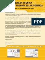 Jornada técnica de energía solar térmica - Salvador Escoda S.A. 2006