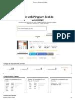 Prueba de Velocidad de Sitio Web