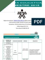 Oferta Eduativa I Trimetre de 2015