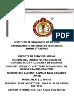 Reporte Servicio Social