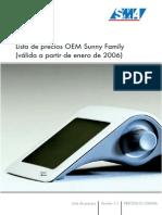 Tarifa Inversores Fotovoltaica - OEM Sunny Family - SMA - 2006