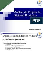 Resumo Analise sistema produtivo