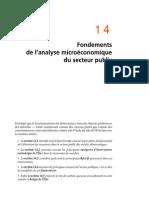 Chapitre 14 Fondements de l'Analyse Microeconomique Du Secteur Public