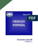 Comunicacao Interpessoal - Apostila 2010 - KARBO