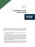 Chapitre 27 La Politique Des Prix Et Des Revenus