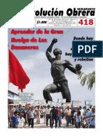 Semanario Revolución Obrera Ed. 418