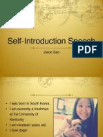 Self Intro Speech