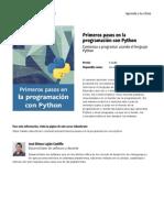 Primeros Pasos en La Programacion Con Python