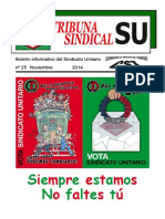 Tribuna Sindical Noviembre 2014
