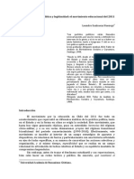 Leandro Sanhueza Huenupi - Hegemonia, Crisis y Legitimidad. El Movimiento Estudiantil Del 2011