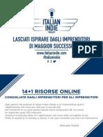 ... Di Installazione e Configurazione. 14+1 Risorse Italian Indie d88b9e8f1265