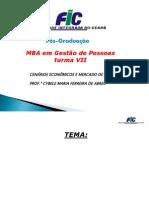 CENÁRIOS ECONÔMICOS E MERCADO DE TRABALHO