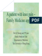 KneeA Patient With Knee Pain Family Medicine Approach