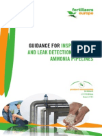Inspection of and Leak Detection in Liquid Ammonia Pipelines