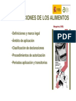 Declaraciones Nutricionales y de Propiedades Saludables