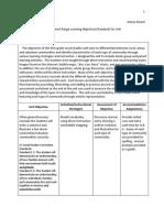 short range objectives-standards for unit koone