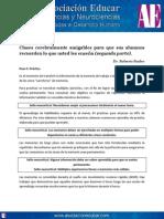 Clases Cerebralmente Amigables Para Que Sus Alumnos Recuerden Lo Que Usted Les Enseña (Segunda Parte). Www.asociacioneducar.com