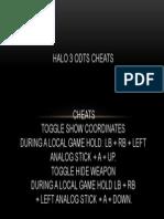 halo odts cheats