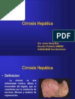 Cirrosis hepática pediátrica