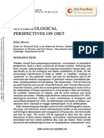 Anthropological Perspectives on Diet - Messer