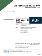 Avis Technique CSTB 10-607