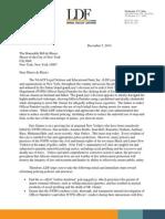 NAACP LDF Letter to Mayor de Blasio Regarding Eric Garner Choking Death Grand Jury Decision