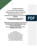 propuesta-intervención de Razonamiento Matemático para docentes que enseñan matemáticas