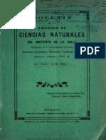 Boletin de La Sociedad de Ciencias Naturales Del Instituto de La Salle