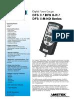 Dfs II Digital Force Gauge Spec Sheet