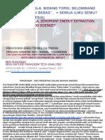 Fusi Dingin, Tesla, Bidang Torsi, Gelombang Skalar, Energi Bebas..  = Semua Ilmu Semu? (Bahasa Indonesia)  /  Cold fusion, Tesla, Free energy = Pseudo science?