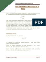 Representación Paramétrica de Curvas en El Plano