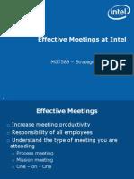 Intel Effective Meetings