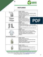 Vestuario para seguridad industrial